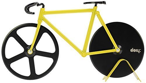 Doiy Backform Small Aluminium Alloy and Stainless Steel Bumblebee Fixie Pizza Cutter, Yellow/Black by (Cutter Fixie Pizza)