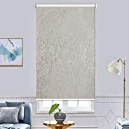 Blackout Roller Shades Snap Curtains - Bedroom Thermal Curtains Window Curtains,Home Decoration Insulated Curt