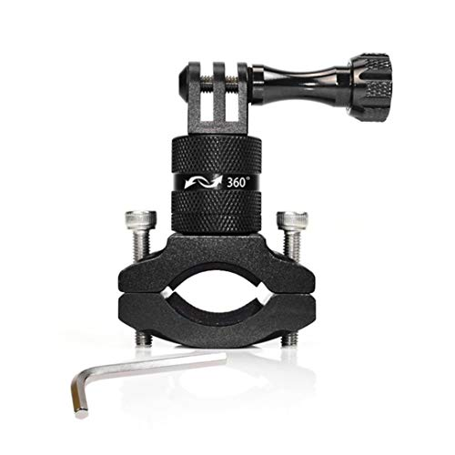 Monllack Sport Action Camera Holder Bike Bicycle Stand Holder Cam Mount 360°Rotation Aluminum Handlebar Holder for Go Pro Hero (Steady Cam Pro Go)