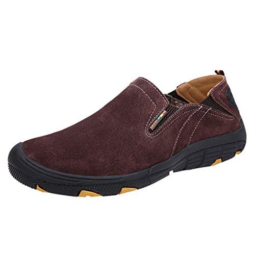 letter54 Trekking Schuhe Herren air Sportschuhe Damen Jungs Sportschuhe Arbeit Schuhe Herren Chukka Boots u&me Schuhe plüsch Hausschuhe Damen Brown Brown 46 EU -