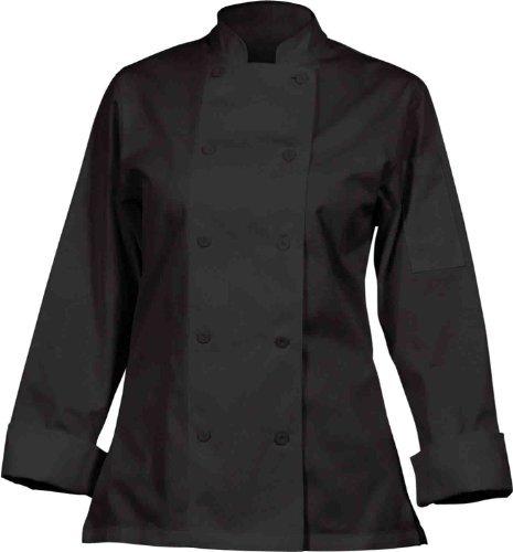 Chef Works Marbella Damen Schwarz Executive Chef Jacket Größe: S (Brust 36-38). Polycotton Executive Chefs Jacket