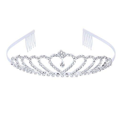SODIAL(R) Krone Stilvolle Strass Prinzessin Stirnband Haarspange Diadem Hochzeit Braut - Braut-haar Pins