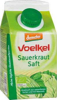 Voelkel Bio Sauerkrautsaft - Direktsaft, milchsauer vergoren (6 x 500 gr)