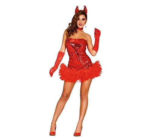 Guirca- Costume da Diavoletta Sexy Taglia M, Colore Rosso, 82281