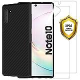 ANEWSIR [2 Pezzi per Samsung Galaxy Note 10 Pellicola Protettiva+ Cover per Samsung Galaxy Note 10, Ultra Sottile Custodia Morbida e Protettiva.