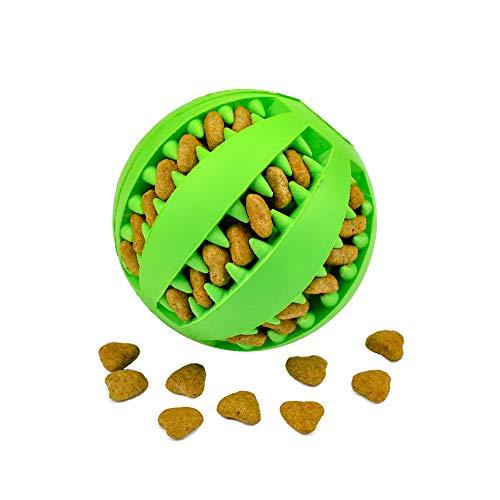 Nozdom Giocattolo Palla per Cane, Gioco Palla Rimbalzante Cane, Giocattolo Resistente Palla per Cani, Palla per Pulito dei Denti di Cane Pulizia Denti Cane - 7cm di Diametro, 1pack Verde