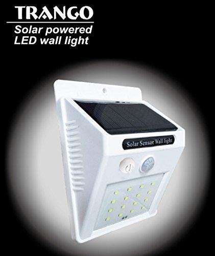 Trango 16LED Lámpara solar lámpara de pared Lámpara de Seguridad con Detector de movimiento & Sensor...
