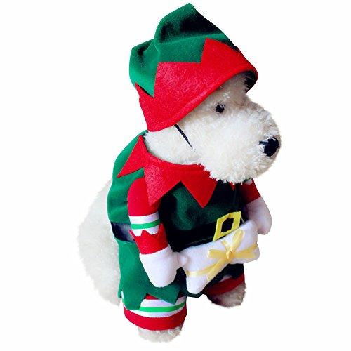 KINGDUO Haustier Hund und Katze Weihnachts Anzug Santa Claus Dressing up Party Bekleidung Kleidung mit Hut-XL (Für Weihnachten Up Dressing)
