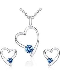 Rafaela Donata - Puces d'oreilles & collier avec pendentif collier maille forçat - Laiton, boucles d'oreilles, bijoux en laiton - 60755006