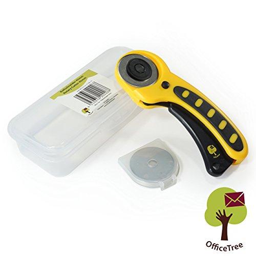 OfficeTree® Cúter de cuchilla circular, cortadora de tela - Corte te