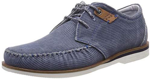 Bugatti 311676016900, Zapatos de Cordones Derby para Hombre, Azul Light Blue 4200, 43 EU
