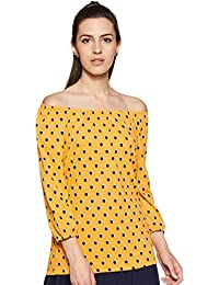 Honey by Pantaloons Women's Polka dot Regular fit Top