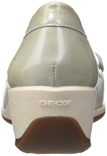 Geox D Arethea B, Mocassins Femme Blanc Cassé (Off White)