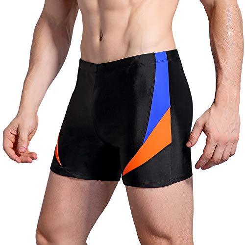 WHCREAT Herren Badehose Sport Schwimmen Boardshorts UV-Schutz Chlor Resistent L