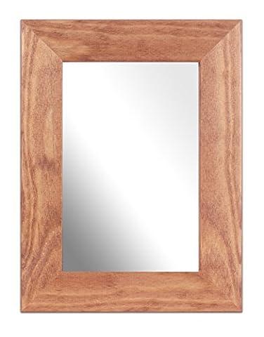 Inov8 British Made 6x4-inch Traditional Real Wood Mirror, Kayla Light Oak