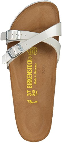 Birkenstock Almere, Mules femme Pearly White