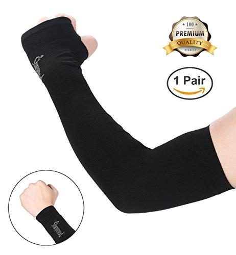 Paire de longues manchettes Ashiny pour Protection UV manchons mitaines de refroidissement protection des bras pour des Sports de plein air