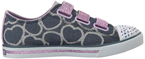 Skechers Sparkle Glitz-Heartsy Glam, Sneakers Basses Fille Bleu (Dnlv)