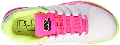 Nike W Nike Zoom Vapor 9.5 Tour Cly, Sneakers basses femme Blanco (Blanco (white/black-volt-pink blast))
