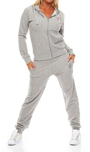 Gennadi Hoppe Damen Jogginganzug Trainingsanzug Sportanzug, hellgrau,XS (Sportkleidung Adidas)