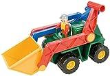 Lena 08652 - Groߟe Robuste Schaufellader, ca. 33 cm, mit beweglicher Figur, Baustellen Spielfahrzeug für Kinder ab 2 Jahre, stabiler Radlader mit Hebeln für Schaufel und Ladearm
