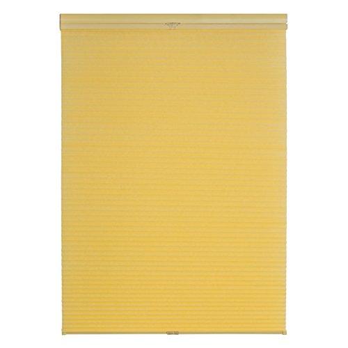 Lichtblick TPK.090.130.26 Plissee Klemmfix, Thermo, ohne Bohren - Gelb 90 cm x 130 cm (B x L)