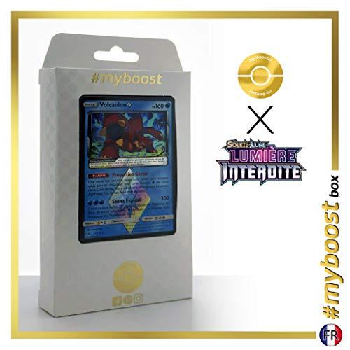 Volcanion 31/131 Holo Prisma - #myboost X Soleil & Lune 6 Lumière Interdite - Box de 10 Cartas Pokémon Francés