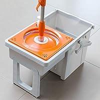 Eurowebb fregona giratoria con Compartimento Deslizante (–Set Escoba con Flecos con Cubo con escurrido Giratorio