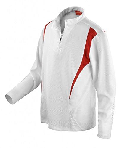 Trial Training Langarm Funktionsshirt Red/Black/White