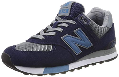 New Balance Herren ML574 D Sneaker, Blau Navy/Grey, 42.5 EU -