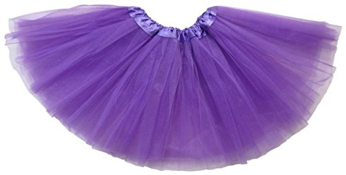 Child Kostüm Julia (Honeystore Tüll Tanz Tutu Rock Party Ballett Lustig Kleid Violett Kind)