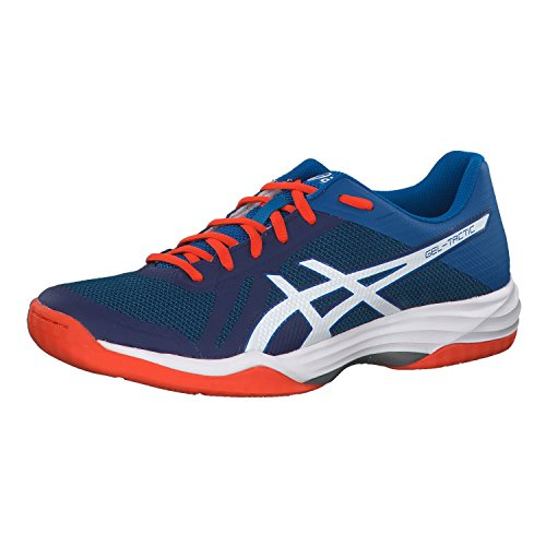Asics Herren Gel-Tactic Volleyballschuhe, Blau (Blue Print/White 401), 47 EU