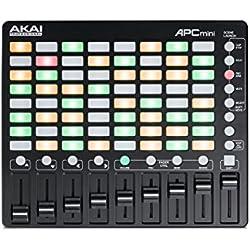 AKAI Professional APC MINI - Controlador MIDI USB para Ableton con disparador de clips de 64 pads y faders