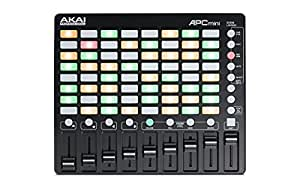 AKAI Professional APC MINI Contrôleur USB/MIDI Ultraléger pour Ableton Live avec 64 Pads Rétro-Eclairés et 8 Faders Assignables
