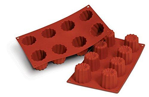 Martellato 18Figur Silikon Bordelais Form Tablett,,, Silikon, braun, 45 x 45 mm