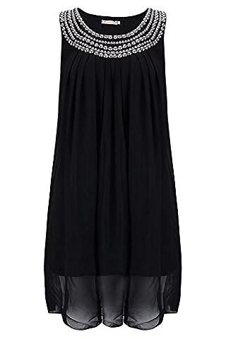 Les Femmes Sans Manches En Mousseline De SoieRivets Desserrés Femmes Enceintes Jupe Robes De Robe