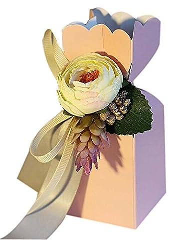20pcs style européen de mariage Bonbonnière Soiree anniversaire boîte-cadeau, rose