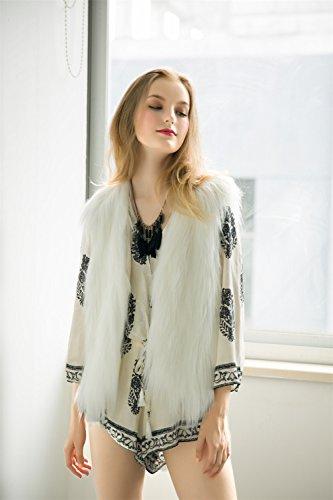 Vlunt - Manteau sans manche - Femme Weiß