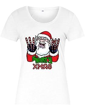 Snikty Xmas Santa T-shirt, Mutant Inspired Ladies Top