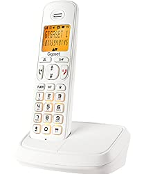 Gigaset A500 White cordless landline phone with caller id & speakerphone