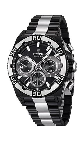 Festina Herren-Armbanduhr XL Tourchrono 2013 Chronograph Quarz Edelstahl beschichtet F16660/1