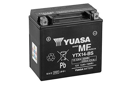 Batería Yuasa YTX14-BS, 12V/12Ah (tamaño: 150x 87x 145) para BMW F800S/ABS Diseño Año 2010