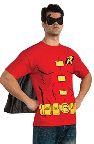 Rubie 's Offizielles Robin T-Shirt Set, Erwachsenen-Kostüm–Medium (Robin Und Batman Kostüm)