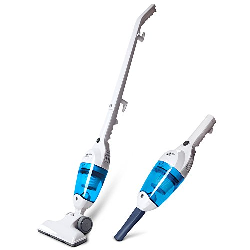41twEip5AaL - BEST BUY #1 Puppyoo WP3006 Handheld Vacuum Cleaner with stick Home Upright Light Vac Bagless Carpet Electric Broom Blue/White Reviews and price compare uk