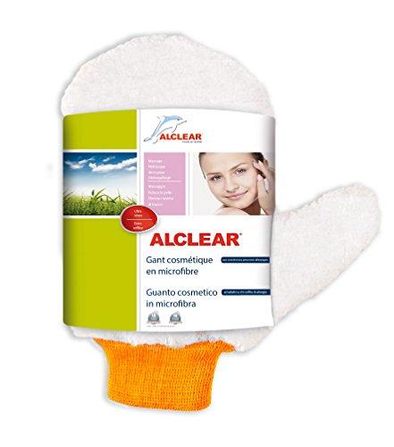 ALCLEAR 200805 Gant cosmétique en Microfibre Blanc Dimensions : Environ 15 x 22 cm