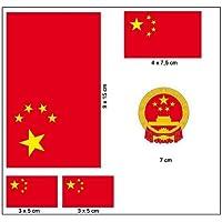 CHINA Chinesische Flagge Volksrepublik China 50mm Auto /& Motorrad Aufkleber x4 Vinyl Stickers