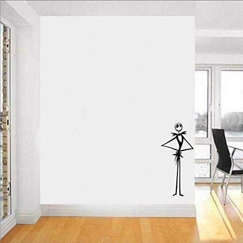 aum Vor Weihnachten Vinyl Wandkunst Aufkleber Aufkleber Wohnkultur Kürbis Skelett 92 * 42 Cm ()
