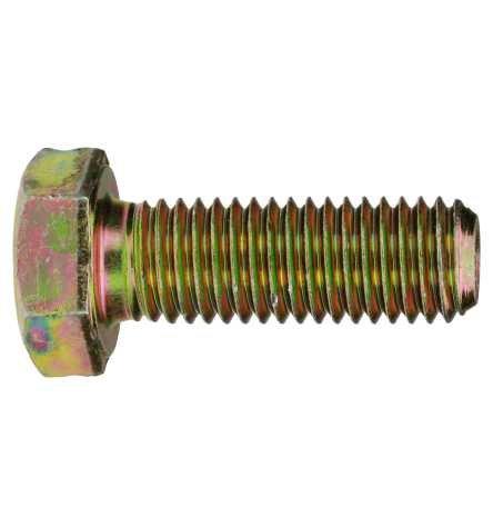 Reidl Sechskantschrauben mit Gewinde bis Kopf 10 x 80 mm DIN 933 8.8 galv. verzinkt gelb chrom. 10 Stück
