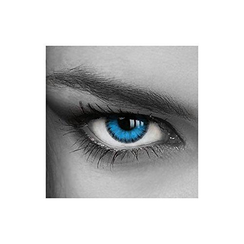 ktlinsen| Mit Etui | Blaue Augen-Effekt | Lustige Karneval Halloween Partys | ohne Stärke by TARGARIAN (Eye Kontaktlinsen Für Halloween)