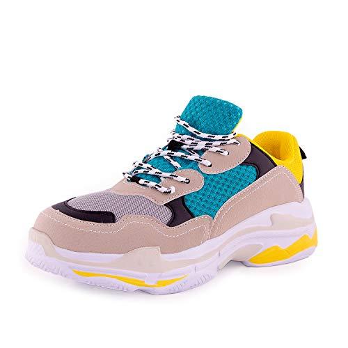 A-Round Scarpe Sneakers Unisex Triple s - Curry (43 EU)